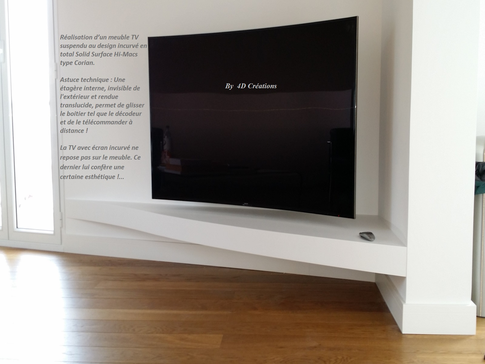 4d Creations  # Meuble Tv Design A Suspendre